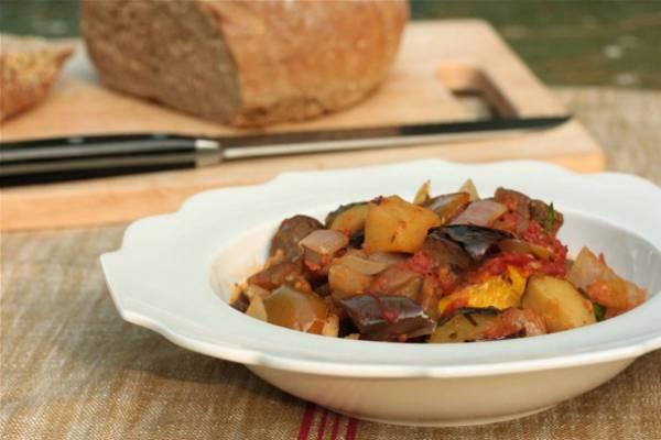 Рецепт Овощное рагу с кабачками и баклажанами