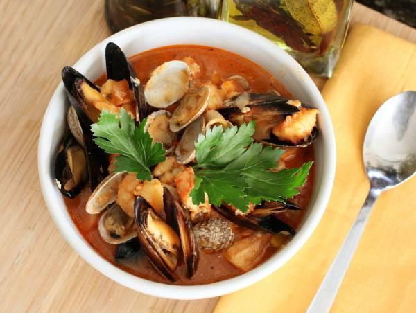 Рецепт Суп из морепродуктов в мультиварке