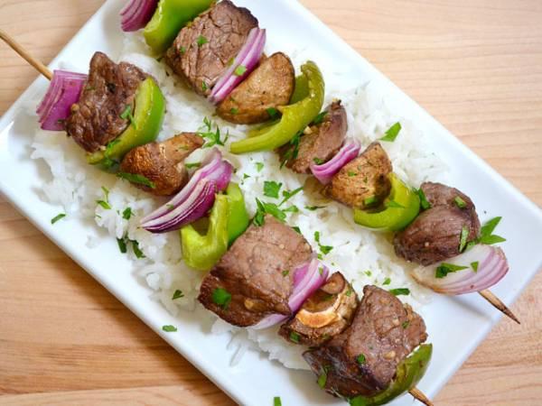 Рецепт Вкусный шашлык из говядины в ростере