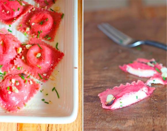 Рецепт Свекольные равиоли с сыром