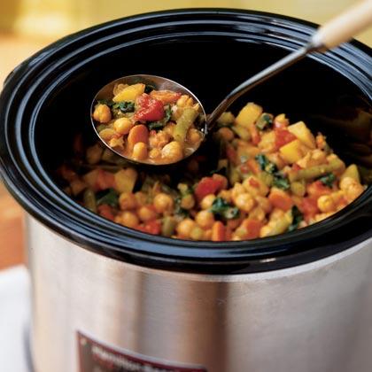 Рецепт Овощной карри с нутом в медленноварке