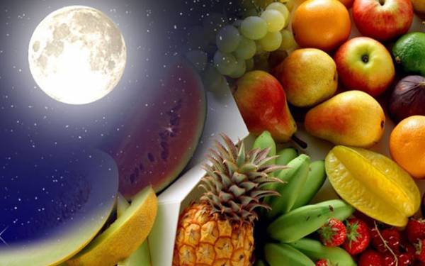 Лунный календарь здорового питания с 1 по 31 августа