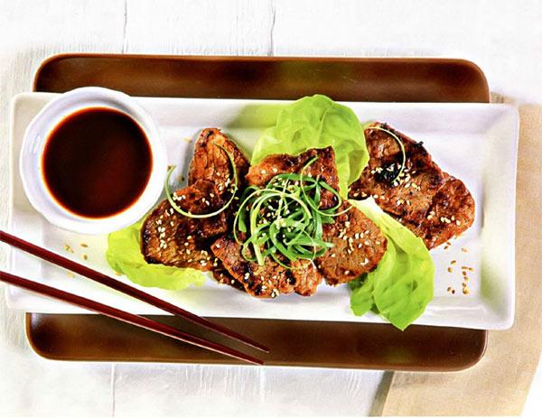 Рецепт Стейк из говядины по-корейски с соевым соусом на гриле