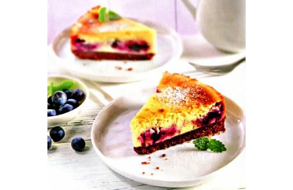 Рецепт Творожно черничный пирог из кексов