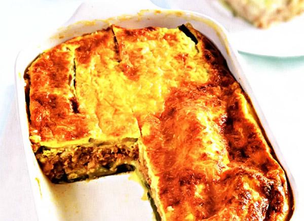 Рецепт Классическая греческая мусака - запеканка из цукини с рубленым мясом