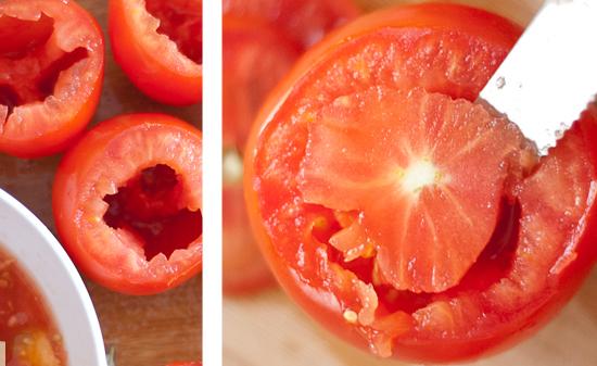 Запеченные сырные фаршированные помидоры киноа в духовке