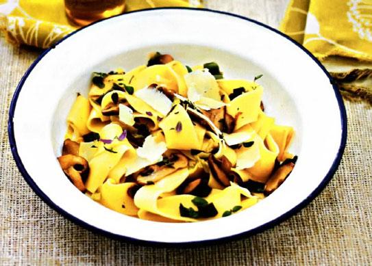 Рецепт Тальятелле с сыром и грибами