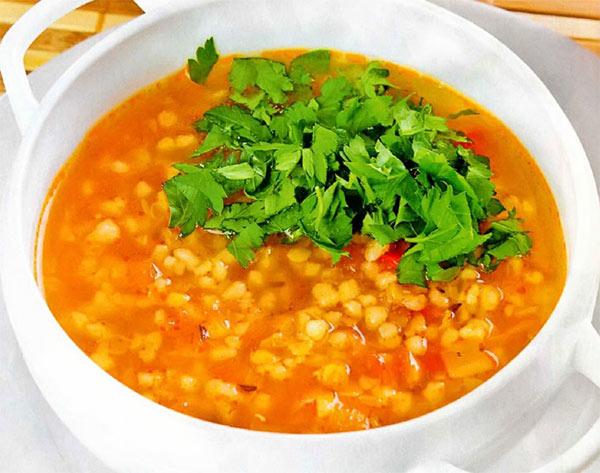 Рецепт Турецкий томатный суп с кускусом