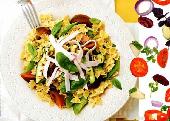 Рецепт Макаронный салат с овощами без холестерина