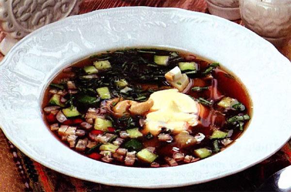 Рецепт Вкусная и полезная окрошка на квасе