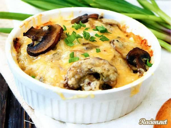 Рецепт Жюльен из грибов