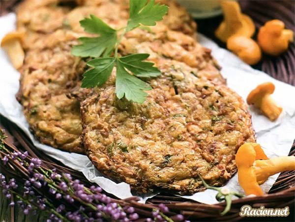 Рецепт Драники картофельные с грибами