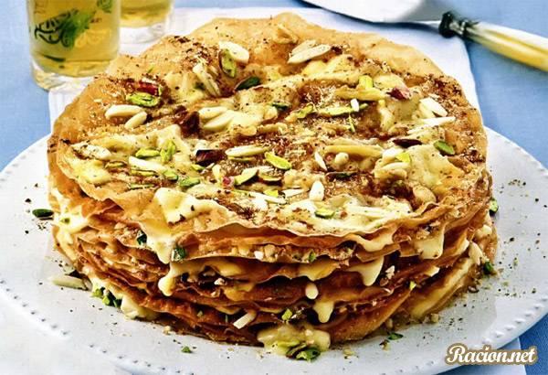 Рецепт Марокканский торт с орехами и кремом