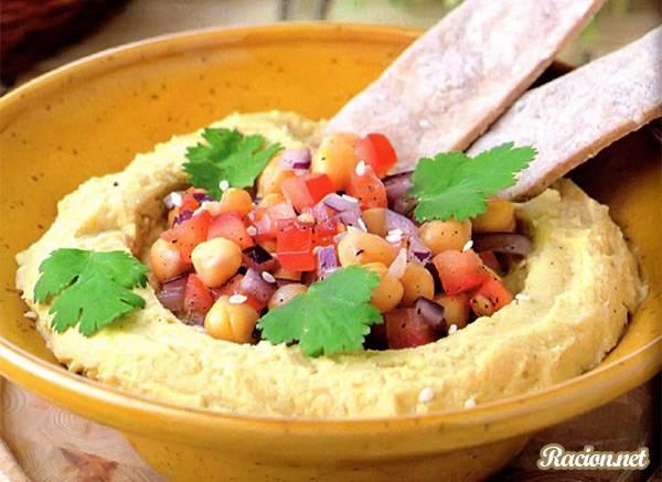 Рецепт Хумус с салатом