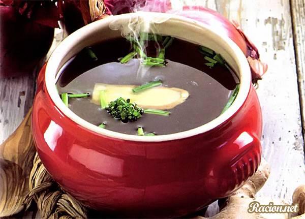 Рецепт Имбирный мисо суп