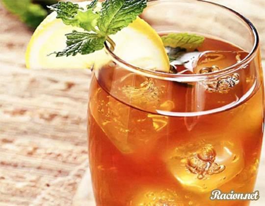 Рецепт Холодный чай лимоном и специями