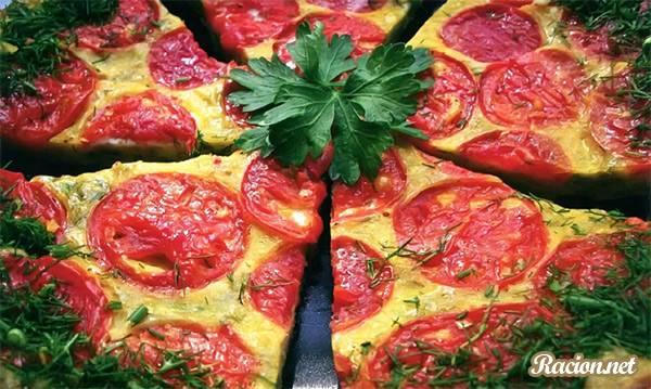 Рецепт Кабачковая пицца с помидорами и зеленью
