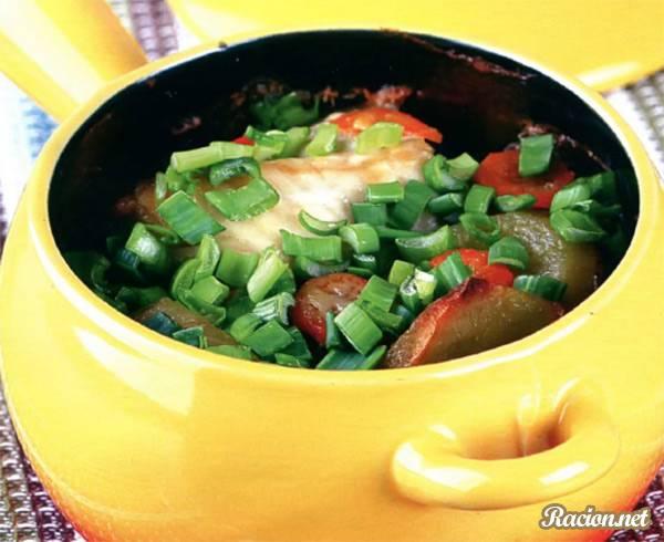 Рецепт Горшочки с рыбой и картофелем
