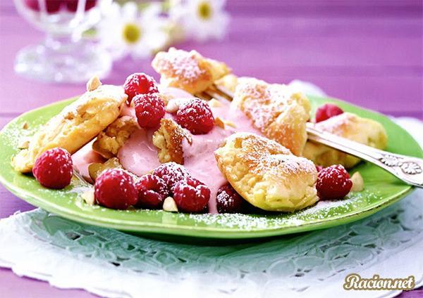 Рецепт Печенье из спельты с малиновой простоквашей
