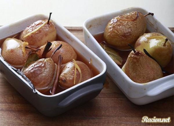 Рецепт Карамелизованная груша в вине