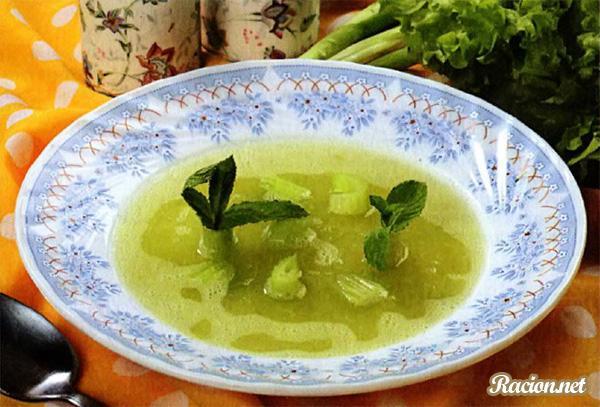 Рецепт Холодный суп из сельдерея