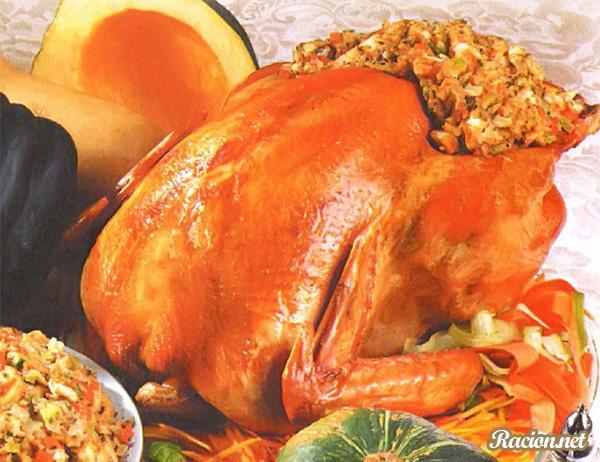 Рецепт Праздничная запеченная индейка в духовке