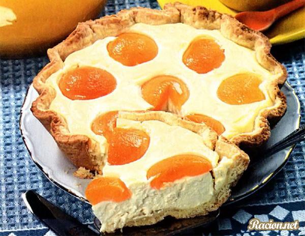 Рецепт Творожный пирог с абрикосами