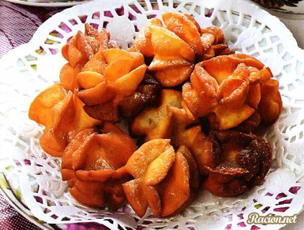 Рецепт Жареное печенье «Весенний розанчик»