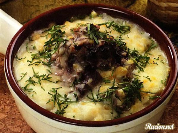 Рецепт Картофельная запеканка с консервированной рыбой