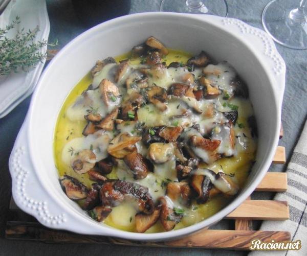 Рецепт Итальянская полента с сыром, грибами и травами