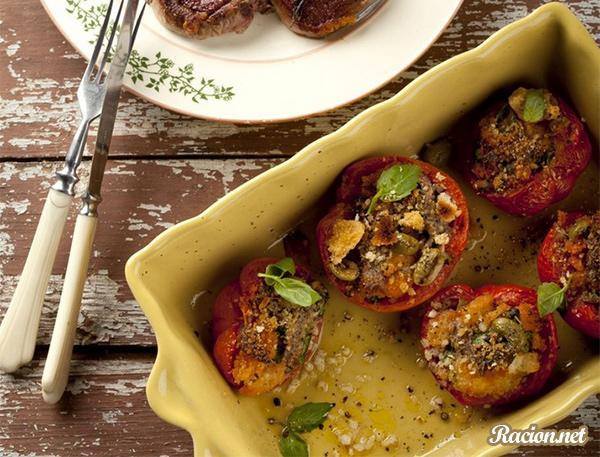 Рецепт Фаршированные помидоры с корейкой ягненка