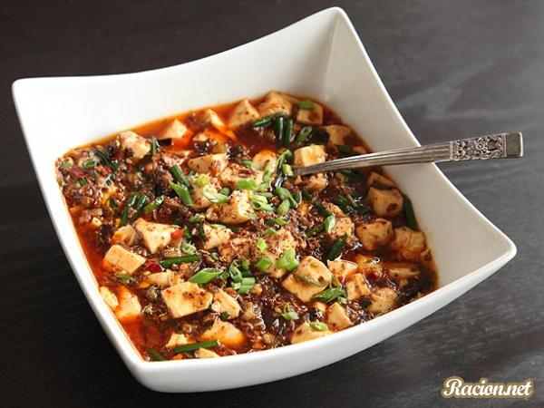 Рецепт Китайский мапо тофу с грибами