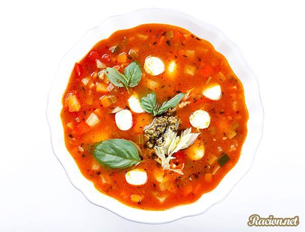 Рецепт Итальянский суп минестроне овощной
