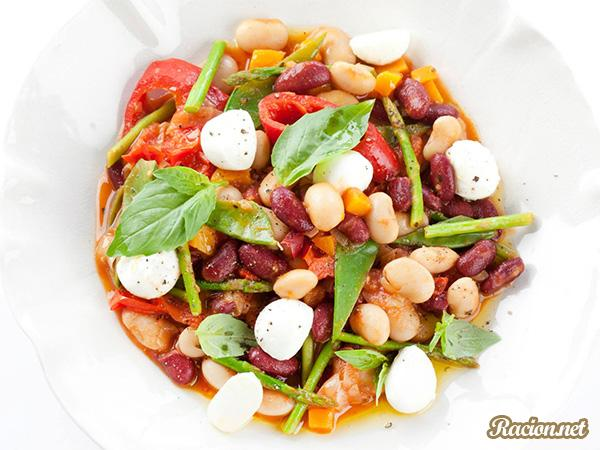 Рецепт Овощное рагу с фасолью в мультиварке