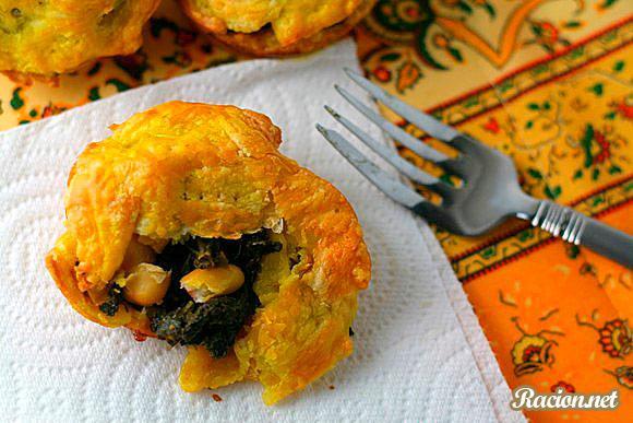 Рецепт Пирожки с капустой кале в духовке