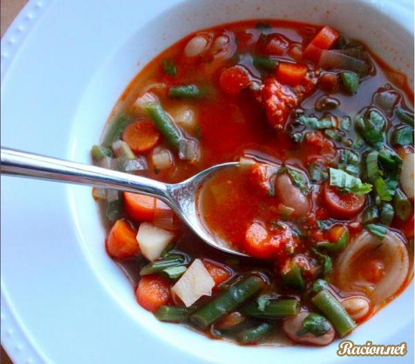 Рецепт Французский овощной суп с песто (Au Pistou)