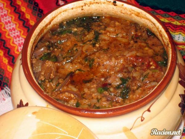 Рецепт Суп харчо из свинины в горшочках