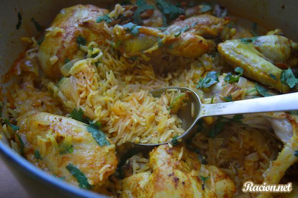 Рецепт Курица карри с рисом в духовке