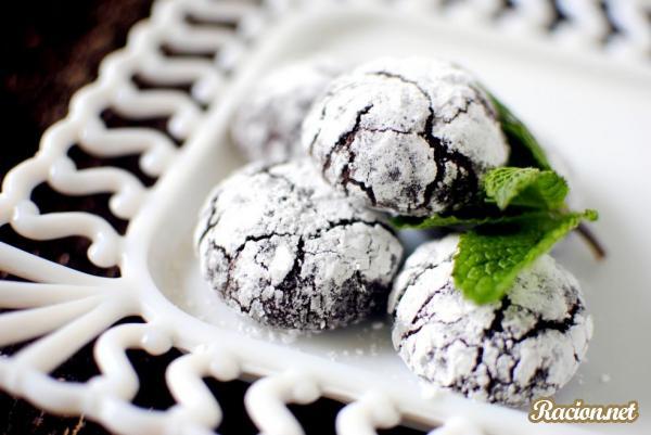 Рецепт Шоколадное печенье из мяты