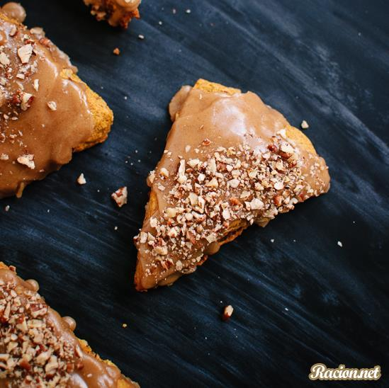 Рецепт Тыквенные пирожные с орехами и глазурью