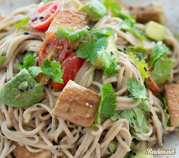 Рецепт Японский теплый соба салат