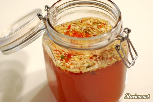 Рецепт Вьетнамский соус для салатов (Ныок мам)