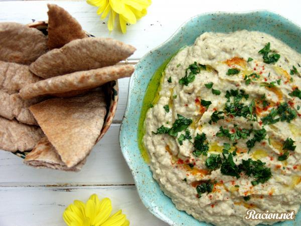 Рецепт Закуска из баклажанов с чесноком (Баба Ганош)