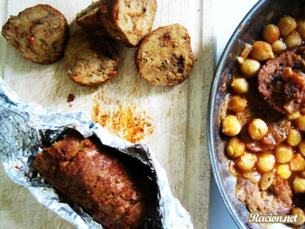 Рецепт Вегетарианская колбаса