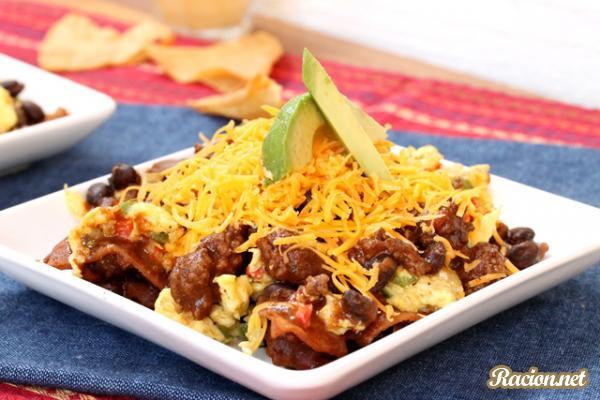 Рецепт Мексиканские лепешки на сковороде с омлетом и сыром