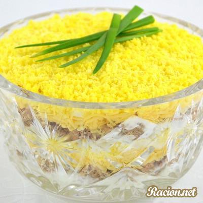 Рецепт Салат мимоза с сайрой