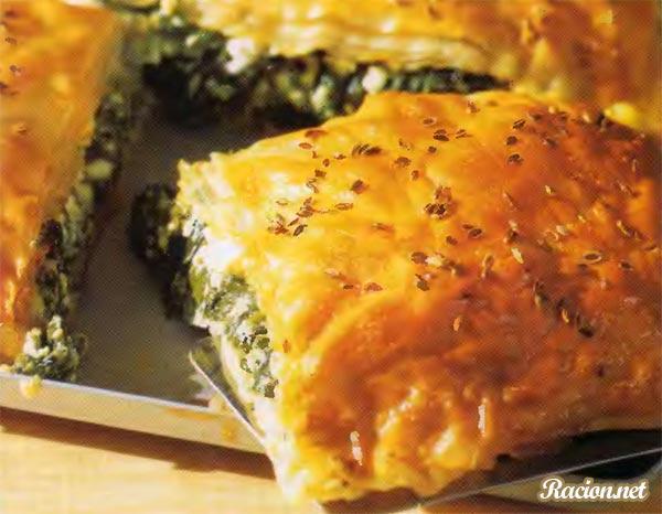 Рецепт Пита с сыром и шпинатом