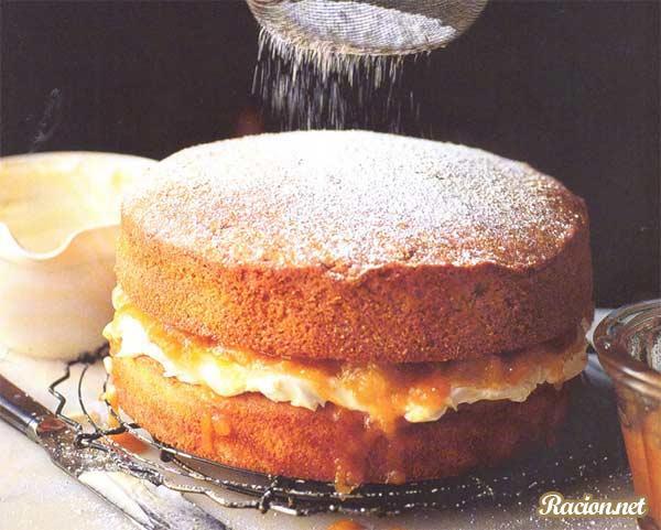 Рецепт Миндально абрикосовый пирог