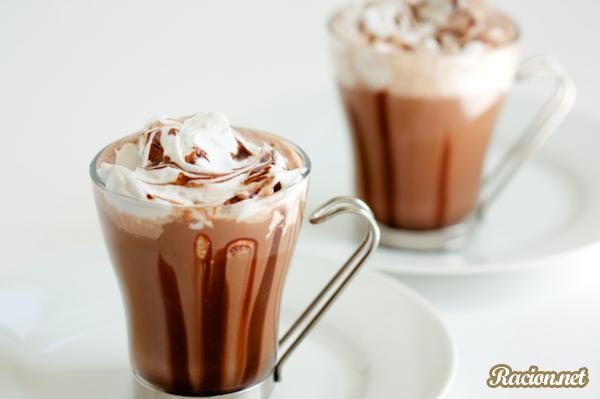 Рецепт Горячий шоколад с кокосовыми сливками