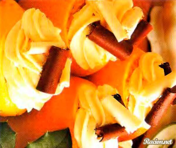 Рецепт Шоколадный десерт в апельсинах